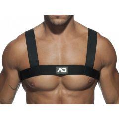 ADDICTED Basic Elastic Fetish Harness - Black