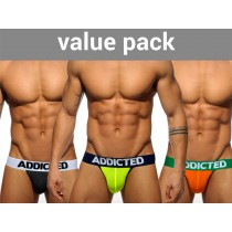 ADDICTED 3 Pack Light Jockstrap - 3 Colours