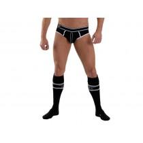 Mister B URBAN Football Socks with Pocket Black 38-41
