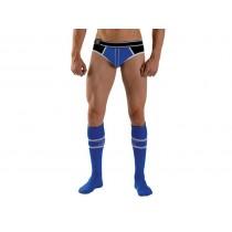 Mister B URBAN Football Socks with Pocket Blue 38-41