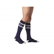 Mister B URBAN Football Socks Navy White 42-46