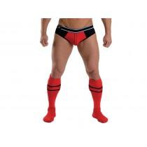 Mister B URBAN Football Socks with Pocket Red 38-41
