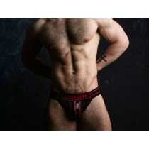 LOCKER GEAR Jockstrap with Zipper - Red