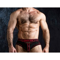 LOCKER GEAR Josh Bottomless Front Opening Brief - Red